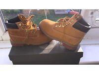Kids timberland boots size 12.5