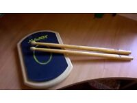 Snare Drum Practice Pad and Drum Sticks