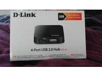 Brand New Never Opened D-Link 4-Port USB 2.0 Hub