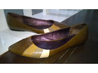 Jones the Bootmakers Brown Leather Pumps Size 4