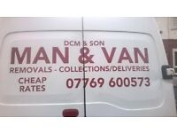 MAN & VAN/SINGLE ITEMS MOVED/TIP RUNS UNDERTAKEN/STUDENT REMOVALS/ALL AREAS COVERED/CHEAP RATES