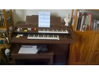 Yamaha electronic organ Model A-55 complete with stool and operational instructions