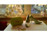 BRAND NEW DESIGNER SHOES AND MATCHING HAND BAG
