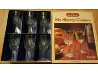 Set of 6 sherry glasses