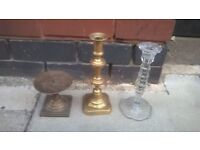 Three candlestick holders excellent central London bargain