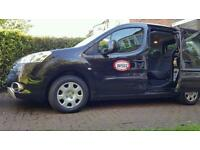 Peugeot Partner 2010 black hackney taxi for sale