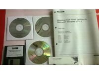 Vintage Software Package Unused Migrating From Novell Netware to MS Windows NT 4.0 & Windows 2000