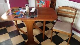 Drop leave table and 4 chairs