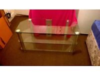 Tempered clear glass class A tv stand