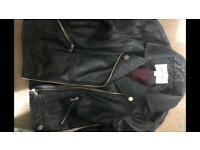 River Island black leather jacket