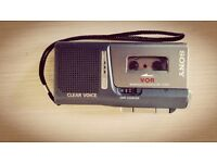 Sony M-729v VOR Clear Voice Microcassette Recorder