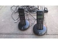 BT Graphite cordless phones twin set excellent central London bargain