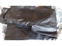Leather Trousers size 38 echtes leder futter MOTORCYCLE USA