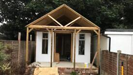 Custom built garden workshop/ summerhouse.