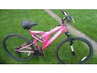 """Muddyfox 26"""" full suspension mountain bike"""