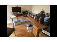 Ikea galant corner desk with extension