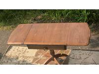 A New Chetsworth Honey Elm Drop-leaf Side Table