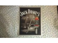 Jack daniels metal sign and wooden sign
