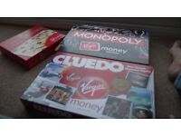 Virgin Money Special Edition sets of Monopoly, Cleudo, Snakes and Ladders