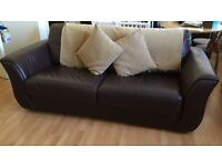 Leather Sofas - Brown - 1 Sofa Bed