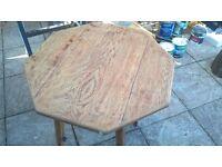 lovely shaped oak table