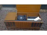 VINTAGE TEAK SIDEBOARD FERGUSON STEREOGRAM RADIOGRAM RECORD PLAYER RADION