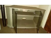 TV Cabinet Grey with double glass doors