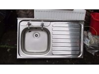 Full size Kitchen Sink with Pillar Taps
