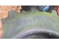 pair of used tractor tyres