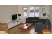 Executive Let: 2 bedroom fully furnished bright & spacious top floor flat, en-suite, private parking