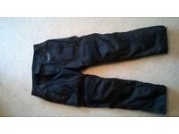 Figo Textile Motorcycle Trousers Black - Large