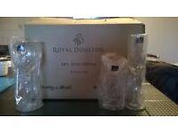 Royal Doulton 8-piece cut glassware set