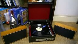 Vintage Ekco record player and speakers