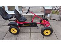 Dino Pedal Go Kart (AF Sport model) with extra seat - Age 5 to Teenage