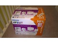 Avent complete starter set with steriliser and breast pump