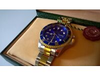 Rolex Submariner Watch, Swiss movement, Sweeping arm, Boxed & new