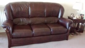 leather sofa 3 seater and chair