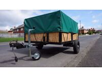 BOX TRAILER 5ft x 4ft with HEAVY DUTY COVER