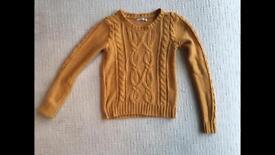 Mustard jumper, size S
