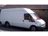 Man with van. Remove garden waste, trash and any residues from households