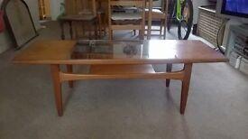 G Plan Fresco Coffee Table Teak Glass V B Wilkins Retro