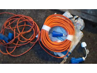 2 x hook up leads 25mtr (new) 10mtr used once and plugged extension as new