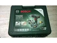 BRAND NEW Bosch PSB 1800 Li-2 18v cordless drill, two 2.0 Ah batteries and charger