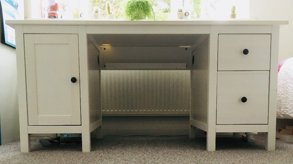 Hemnes desk white stain from ikea in frimley surrey gumtree