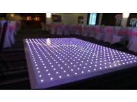 Charger Plate Rental 95p Black Chair Cover Rental 79p LED Dancefloor Hire £349 White Starlight Back