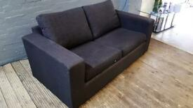 DARK GREY FABRIC SOFA BED IN NICE CONDITION