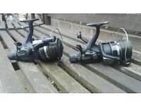 2 shimano st10000rb baitrunner carp barbel , pike reels