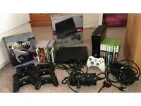 320GB PS3 WITH GAMES & 250GB XBOX 360 WITH GAMES