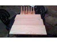 QTY 3 JOBLOT Natural Wood Wooden Shelf Storage Unit Stand