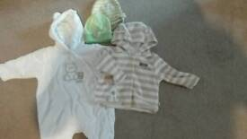 Pramsuit and jacket 0-3 months